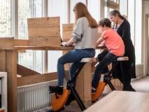 Studiecoaching Kzieje te Enschede; Deskbike's op de locatie